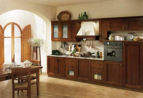 Кухня Camilla - модель кухни, выполненная под старину