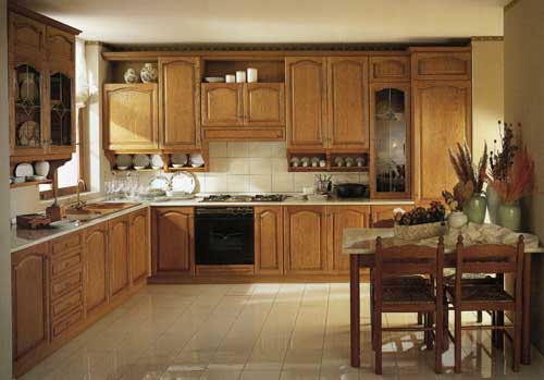 Кухня Rossana из натуральной древесины ясеня